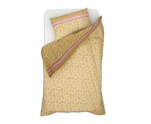 Parure copripiumino singolo in flanella panna  - arabesco
