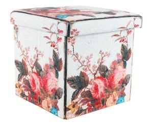 pouf contenitore in ecopelle degas - 40x40x40 cm