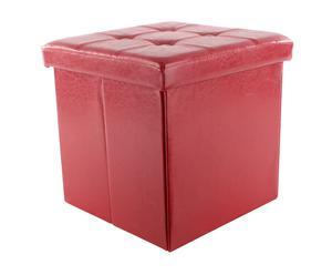 Pouf contenitore in ecopelle elison - 38x38x38 cm