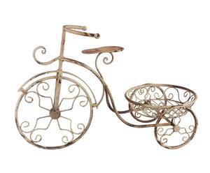 bicicletta decorativa in metallo con portafiori cherize - 59x25x38 cm