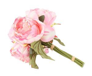 bouquet di peonie rosa - d 18/h 24 cm