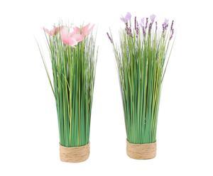 set di 2 mazzi floreali assortiti - 10x10x35 cm