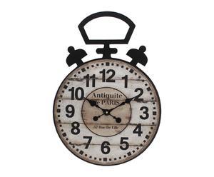 Orologio da parete in mdf a forma di sveglia Paris - 40x57x3 cm