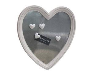 Lavagna magnetica da parete in legno cuore - 37x38 cm