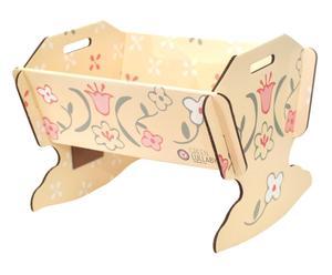 Culla per bambole in cartone Cradle multicolor - 60x39x39 cm