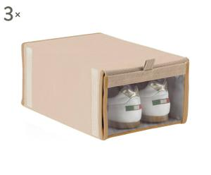 set di 3 scatole portascarpe in tnt - 24x36x16 cm