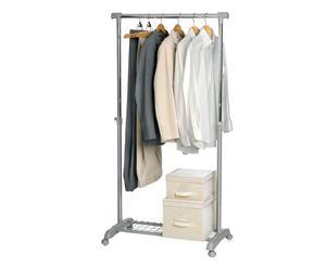 set guardaroba (stand+scatole) gastone ecru' - 3 pezzi