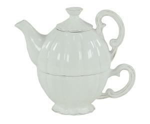 Set teiera e tazza in ceramica melissa - 19x16x11 cm