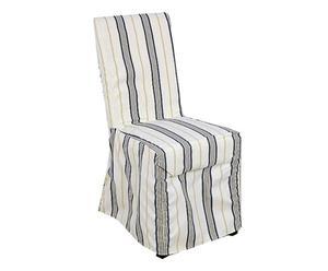 Sedia vestita in legno e tessuto Marin - 47x100x57 cm