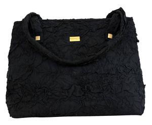 Borsa in tessuto Le Ancelle nero - 55x42x16 cm