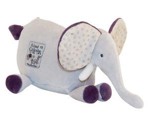 Peluche in misto cotone elephant rattle multicolor - 0 + mesi