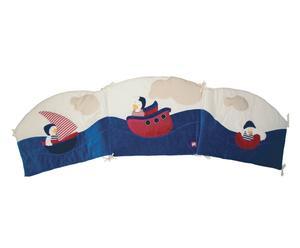Paracolpi per culla in misto cotone boat multicolor - 172x42 cm
