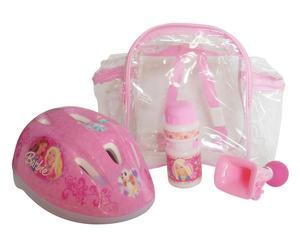 Zainetto con casco e borraccia Barbie - bimba