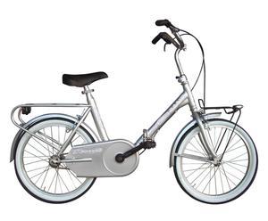Bicicletta pieghevole classica - argento