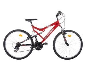 Bici MTB Full Suspension Warrior biammortizzata 26'' - rosso/nero