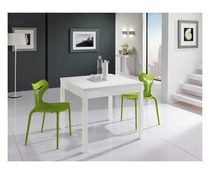 Tavolo allungabile in laminato Omnia bianco - 140x90x75 cm
