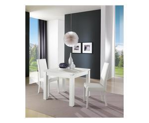 Tavolo allungabile in laminato Diesis bianco - 140x90x76 cm