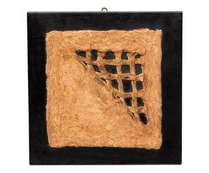 Quadro in legno e pergamena nayeli nero - 40x40 cm