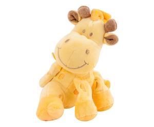 Peluche in cotone a giraffa Trilly giallo - H 20 cm