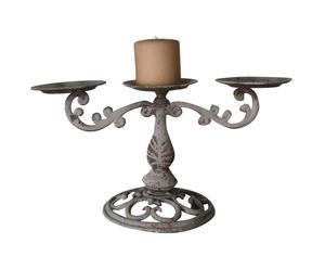 Candeliere in ferro battuto a 3 fiamme - 64x27x22 cm