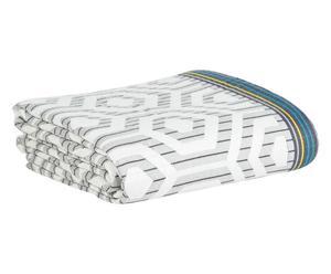 Telo arredo in misto cotone optical bianco/nero - 180x260 cm