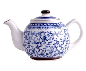 Teiera in porcellana con decoro floreale Flowers tè - Da 0,50 lt