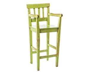 Seggiolone in legno Camilla verde p. unico - 37x96x36 cm
