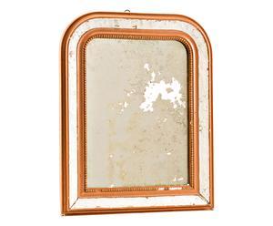 Specchio con cornice in legno Erminio rame e bianco p. unico - 42x51x3 cm