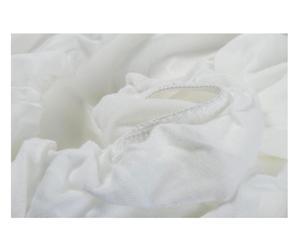 Lenzuolo/coprimaterasso singolo Baby in Tencel&Reg - bianco