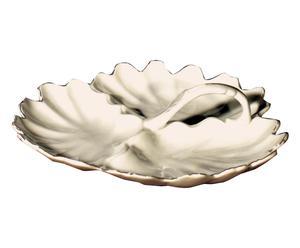 Piatto da antipasto in porcellana bianco - D 26 cm