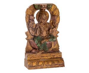Scultura in legno di mango Indu' 11 dorata/multicolor - 17x28x6 cm