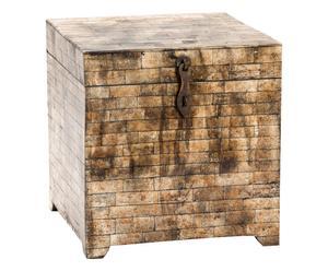 Portagioie in osso antichizzato Box 1 - 25x26x25 cm