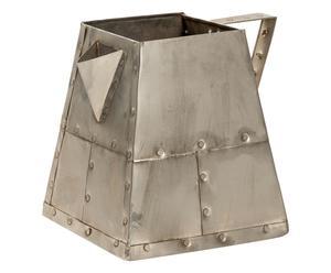 Portagioie in metallo Latbox 2 argento - 21x43x21 cm