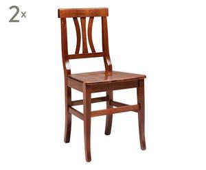 Set di 2 sedie in faggio ARTE POVERA naturale - 88x45x41 cm