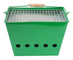 Barbecue portatile Indian Summer verde - 34x23x26 cm