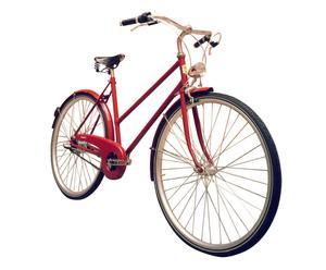 Bicicletta unisex con cambio shimano TUBINA 28'' - granata e nero