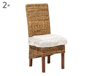 Set di 2 sedie in teak e banano Sofie - 47x101x52 cm