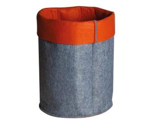 Contenitore in feltro Mousse grigio rosso - 58x36 cm