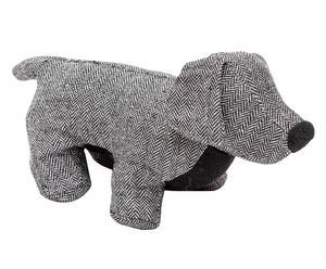 Fermaporta in cotone Dog grigio - 38x18x15 cm