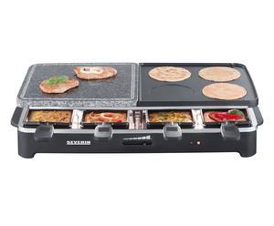 Grill raclette con pietra ollare e ghisa - 1400 w