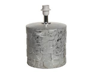 Base per lampada in porcellana Precious silver - 22x23 cm