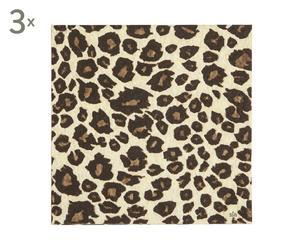 3 confezioni da 20 tovaglioli di carta Leopard - 33x33 cm