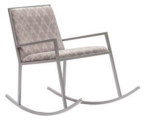 Sedia a dondolo in ferro e lycra Chair G - 61x78x100 cm