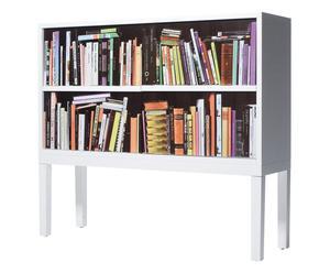 Credenza in mdf effetto 3D Bookshelf bianco - 125X105X38 cm