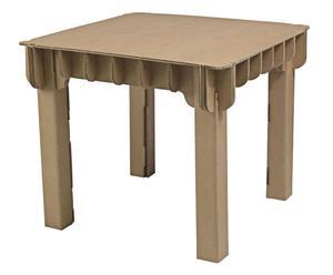 Tavolo per bambini Build up marrone - 60X56X60 cm