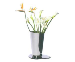 Vaso da tavolo in ottone Puddle argento - 18x27x14 cm