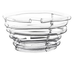Ciotola in vetro soffiato imperfetti trasparente - D 36/H 21 cm