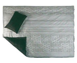 Set di copripiumino singolo + federa in cotone Kelly nero e grigio