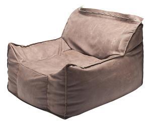 Poltrona sfoderabile Frolla vintage marrone - 100X100X65 cm
