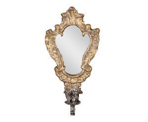 applique da parete portacandela con specchio Heather - 19x34x10 cm